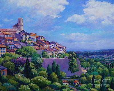 Nice France Painting - St Paul De Vence  20x16 by John Clark