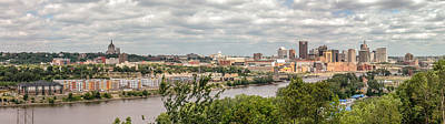 Photograph - St Paul Skyline 2005 by Mike Evangelist