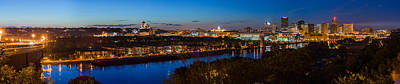 St Paul Skyline At Dusk Art Print