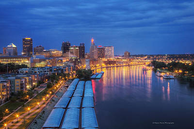 St Paul Skyline At Night Art Print