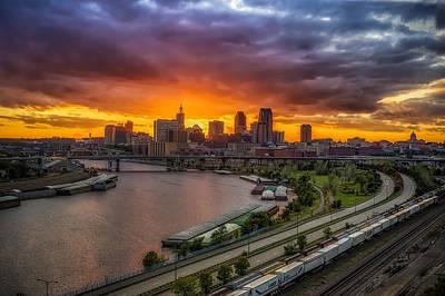 Photograph - St. Paul Sunset by Mark Goodman