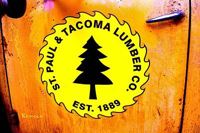 Photograph - St Paul - Tacoma Lumber Co Insignia by Sadie Reneau