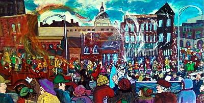 Painting - St Paul Winter Carnival Love Parade by Richard  Hubal