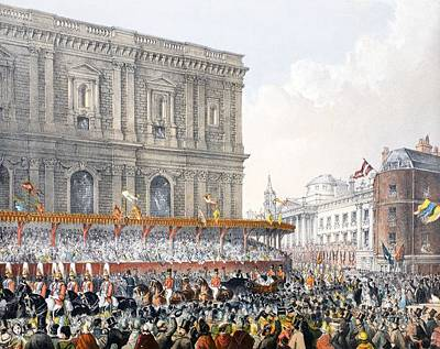 Royal Wedding Drawing - St Pauls, 7th March 1863, From A by English School