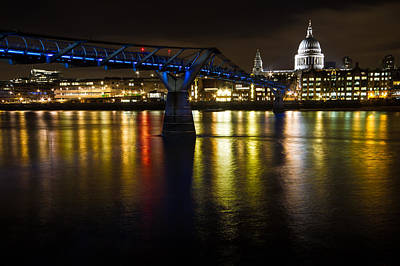 Photograph - St Pauls And Millenium Bridge by Ken Brannen