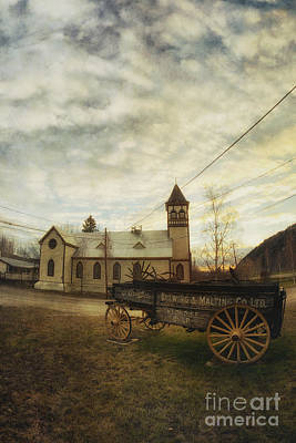 St. Pauls Anglican Church With Wagon  Print by Priska Wettstein