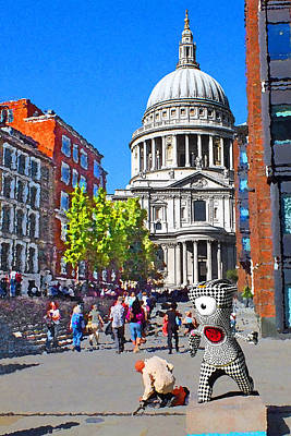 St Pauls Cathedral And Mandeville Art Print