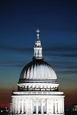 Photograph - St Pauls Cathedral At Dusk London by Laurie Noble