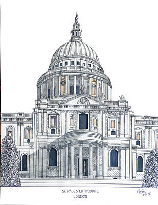 Drawing - St Pauls Cathedral by Frederic Kohli
