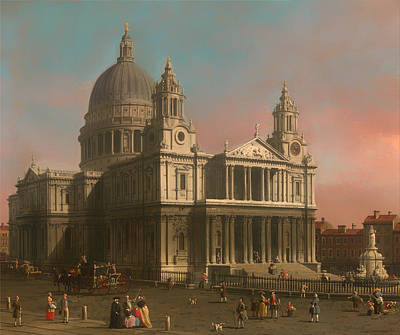 Christian Artwork Painting - St Paul's Cathedral In London by Mountain Dreams