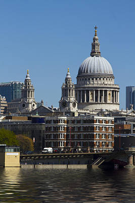 St Pauls Cathedral In London  Art Print by David French