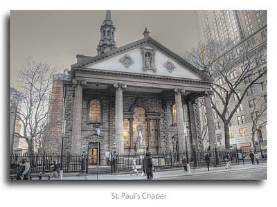 Photograph - St. Paul's Chapel -  9/11 Refuge by Dyle   Warren