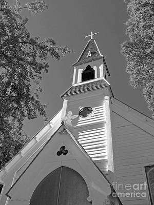 Photograph - St. Paul's Church Port Townsend In B W by Connie Fox