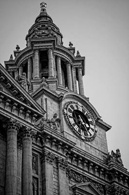 St Pauls Cathedral Photograph - St Pauls Clock Tower by Heather Applegate