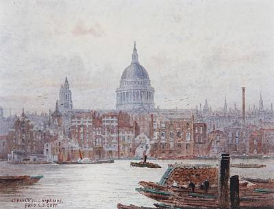 St Pauls From Bankside Art Print by MotionAge Designs