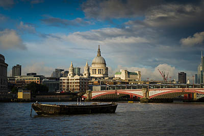 Photograph - St Paul's From The River With Rain Clearing by Gary Eason
