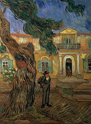 St. Vincent Painting - St Pauls Hospital, St Remy, 1889 by Vincent van Gogh