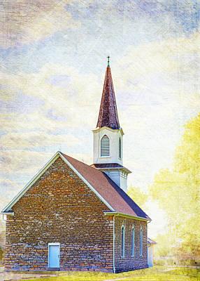 St Paul's Lutheran Church Art Print by Bill Tiepelman