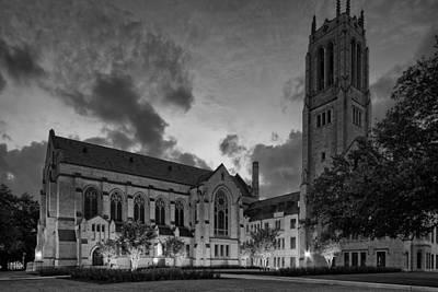 Contemporary Art Museum Photograph - St. Paul's United Methodist Church In Bw - Houston Texas by Silvio Ligutti