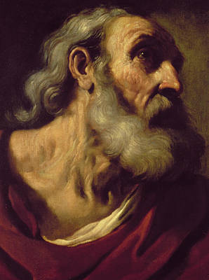 Disciples Painting - St. Peter by Guercino