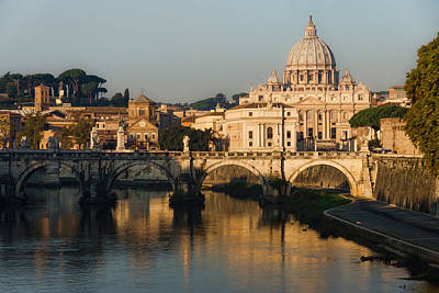 Digital Art - St Peter Morning Glow - Impressions Of Rome by Georgia Mizuleva