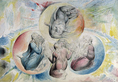 William Blake Painting - St. Peter St. James Beatrice And Dante by William Blake