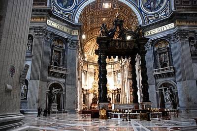 Photograph - St. Peter's Baldachin by Eric Tressler