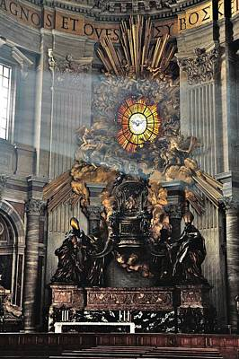 Church Photograph - St. Peter's Basilica Altar Of The Chair Of St. Peter by Steven Richman