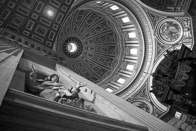 St Peter's Basilica Bw Print by Chevy Fleet