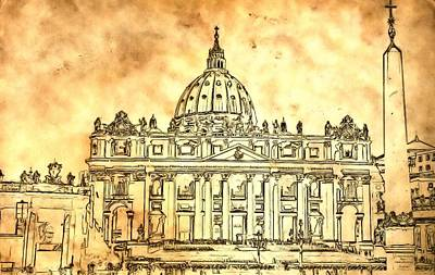 St. Peter's Basilica Art Print by Dan Sproul