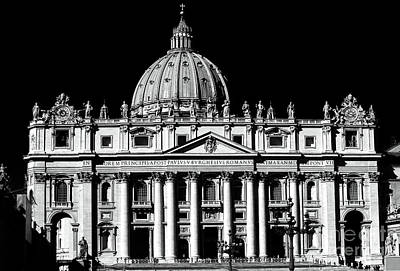 Photograph - St. Peters Basilica by John Rizzuto