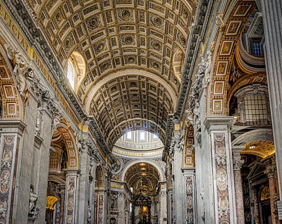 Vatican Photograph - St. Peter's Basilica Rome Italy  by Bruce Ingwall