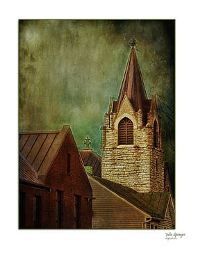 Photograph - St Peter's By Night Greeting Card by Julia Springer