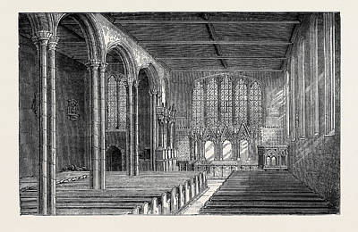 Tower Of London Drawing - St. Peters Chapel In The Tower Of London by English School