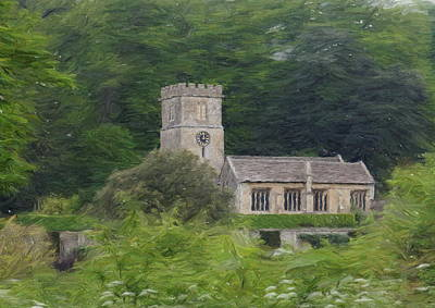Digital Art - St Peters Church  Dyrham by Paul Gulliver