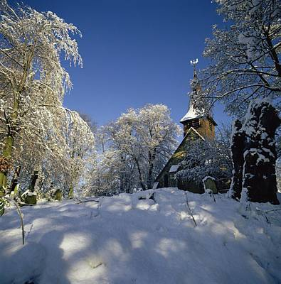 Eve Photograph - St Peter's Church In The Snow by Robert Hallmann