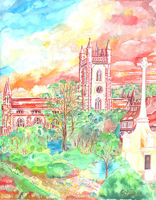 St Peter's Church - St Albans Art Print by Giovanni Caputo