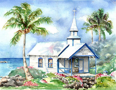 Hawaiian Painting - St. Peter's by Lisa Bunge