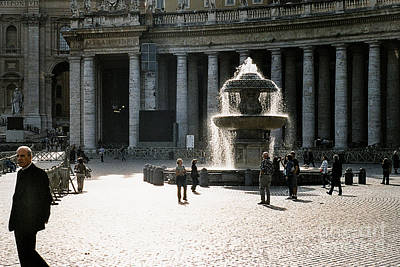 Fountain St. Peter's Square Art Print by Kim Lessel