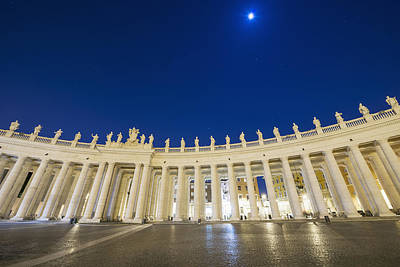 St. Peter_s Square, Vatican City_ Rome Art Print by Mats Silvan