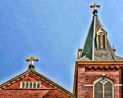 Photograph - St. Peters Steeple's And Crosses By Diana Sainz by Diana Raquel Sainz