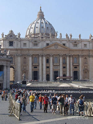 Photograph - St. Peters - Vatican - Rome by Phil Banks