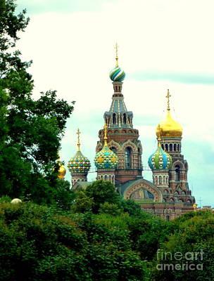 Photograph - St Petersburg Church by John Potts