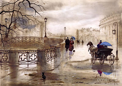 Coach Horses Painting - St. Petersburg by Svetlana and Sabir Gadghievs