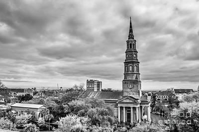 St. Philip's Church X Downtown Charleston Art Print by Philip Jr Photography
