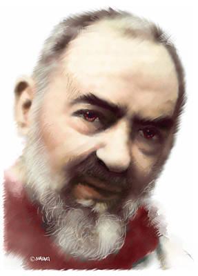 Padre Pio Painting - St. Pio by Mario Macari