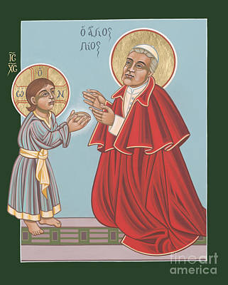 Painting - St. Pius X And The Holy Child 269 by William Hart McNichols