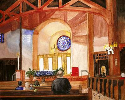 Painting - St. Raphaels - Early Morning Prayers by June Holwell