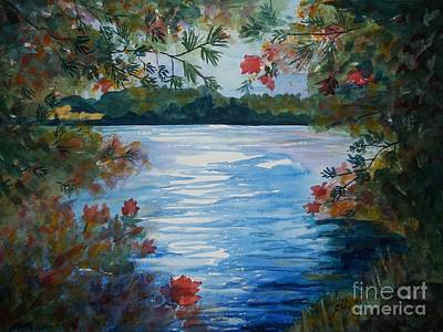 St. Regis Lake Art Print by Ellen Levinson