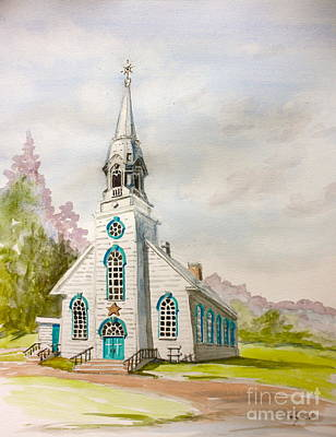 Painting - St Simeon Church Quebec Canada by Yvonne Ayoub